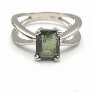 Jewelry - 13.85 Crt Natural Tourmaline 925 Silver Ring